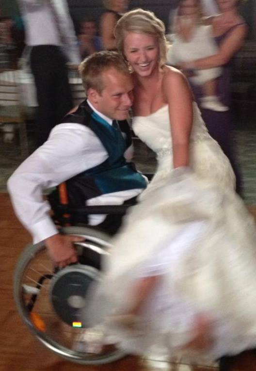 The Beautiful Bride and I Dancing