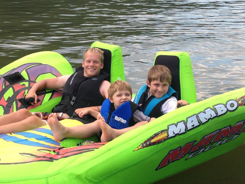 Tubing With My Nephews